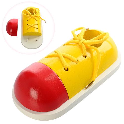 Деревянная игрушка Шнуровка MD 0966  обувь,  в кульке,  19-9-5см