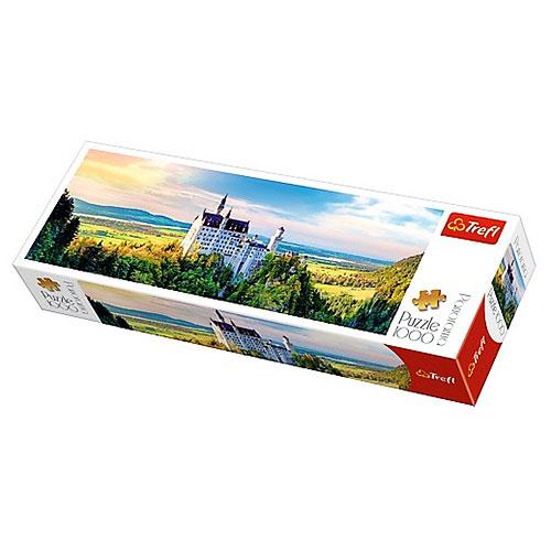Пазлы 29028  Trefl,  Замок Нойшванштайн,  97-34см,  1000дет,  в кор-ке,  40-13, 5-7см
