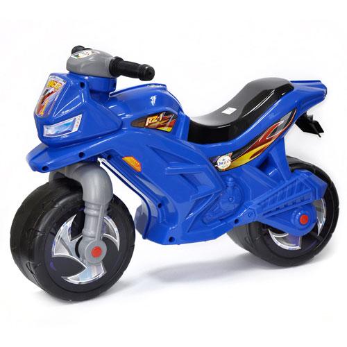 МОТОЦИКЛ 2-х колесный с укр. сигналом синий ОРИОН 501 в.5  (680x285x470 мм)