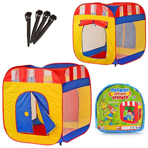 Палатка M 0505  куб,  94-94-108см,  2 входа (с занавеской, на змейке),  2 окна-сетка,  в сумке,